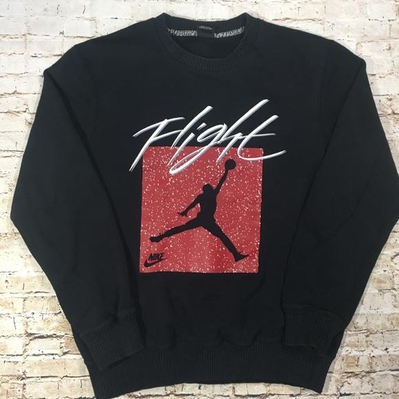 """2ea58d871f6f Jordan """"Flight"""" Graphic Crewneck Sweatshirt. M 5a8f960c3b1608f2819dc16d"""